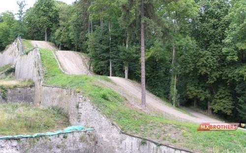 Motocross track Namur - The legendary steps up the Citadelle