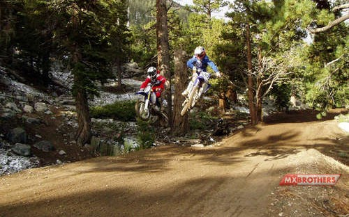 Motocross track Mammoth Mountain - California