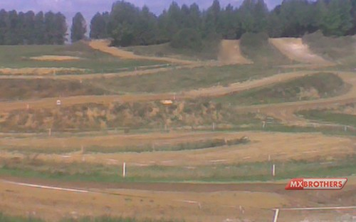 Overview Motocross track Rognee